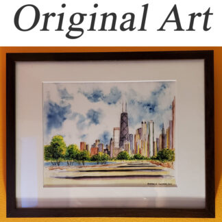 Original art comes matted and framed at Condren Galleries.