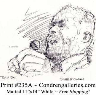 Brian Sims 235A pencil celebrity drawing by artist Stephen Condren.