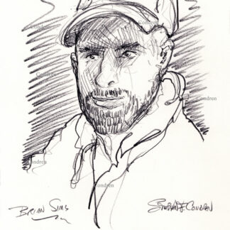Brian Sims 236A pencil celebrity drawing by artist Stephen Condren.