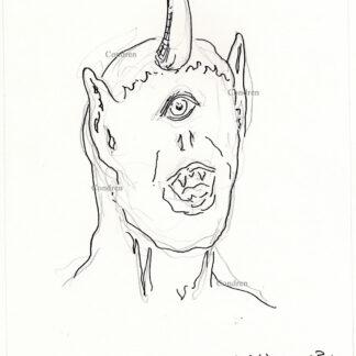 Cyclopes 375A pen & ink mythology drawing by artist Stephen Condren.