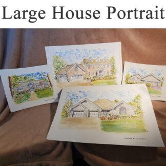 Large House Portraits.