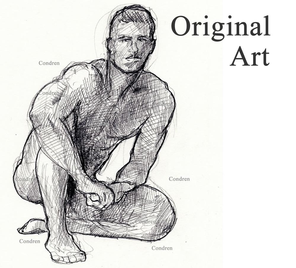 Original Art of figure drawings.