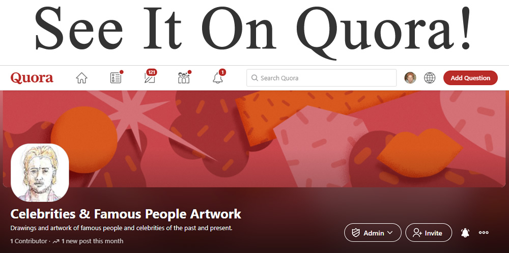 See it on Quora, celebrities and famous people artwork. Brad Pitt.
