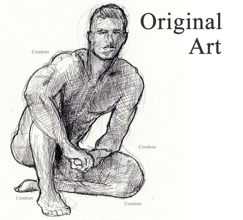 Original art of celebrity people, men, children, and women.
