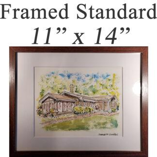 """Framed Standard 11"""" x 14"""""""